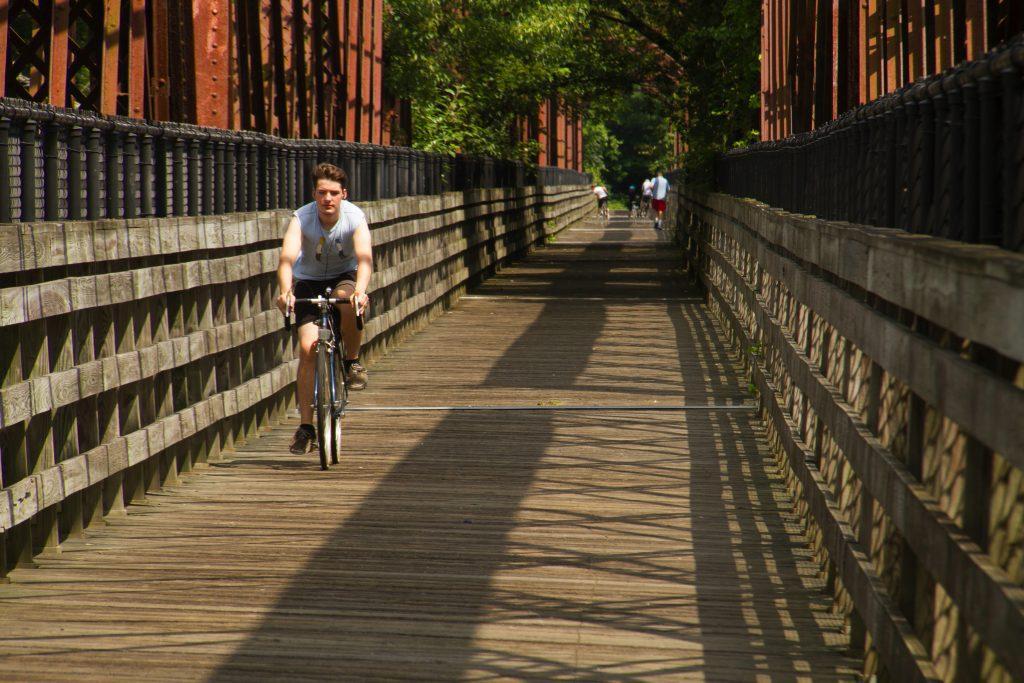 Biking trail Western MA.